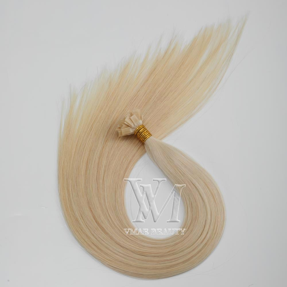 VMAE 11A SALON QUALITÄT 1G 100 Stränge blonde braune natürliche seidige glatte Keratin-Fusion-flache Spitze vor gebundenen menschlichen Haarverlängerungen
