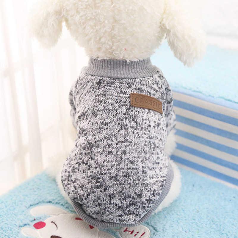 Dog Apparel Classics Pet Sweater Coat Clothes Autumn Warm Defensive Cold Cotton Puppy Cat Knitting s Sweatershirt SHAI