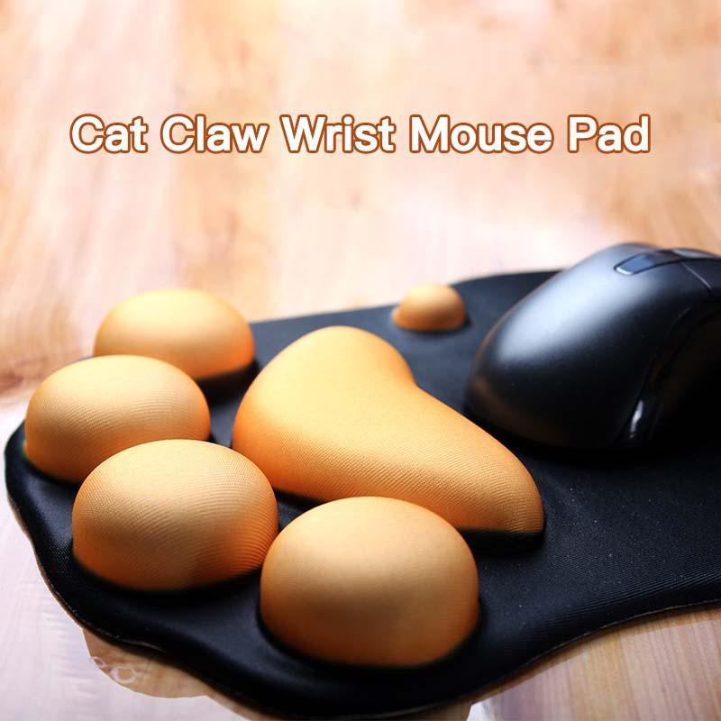 Numéro de souris 3D 3D mignon mignon mous de souris de souris de souris avec poignet Support confort Silicon Memoring Mousse Jeux Mousepad Tapis