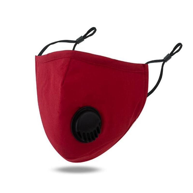 Algodón 18 estilos cara lavable máscaras PM2.5 Mascarilla anti-niebla con máscara a prueba de polvo con la válvula de respiración cara ojo protectora máscaras de escudo yya363