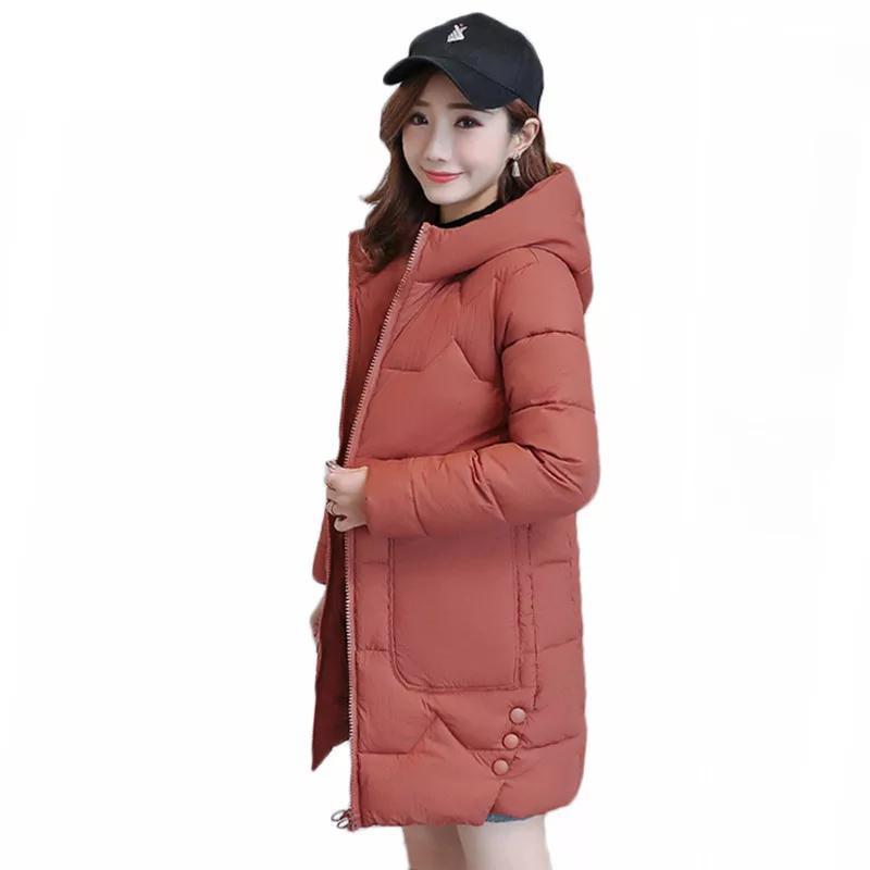Женские Parkas 2021 Мода Пальто зимних Женщин С капюшоном Теплый Пальто Плюс Размер Длинные Утолщенные Хлопчатобумажные Детские Куртки Волневой Feminina