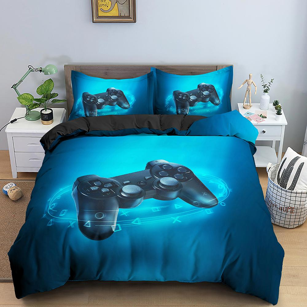비디오 게임 침대 세트 소년을위한 게이머 위안 자 테마 침실 장식 게임 침구 세트 홈 텍스타일 210309