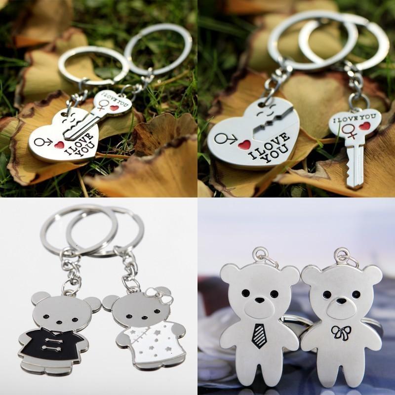 Liebhaber Schlüssel Schnalle Ich liebe dich Englisch Brief Muster Schlüssel Ring Mann Frau Multi Styles Kette Kreative 1 48hl L1H3AL