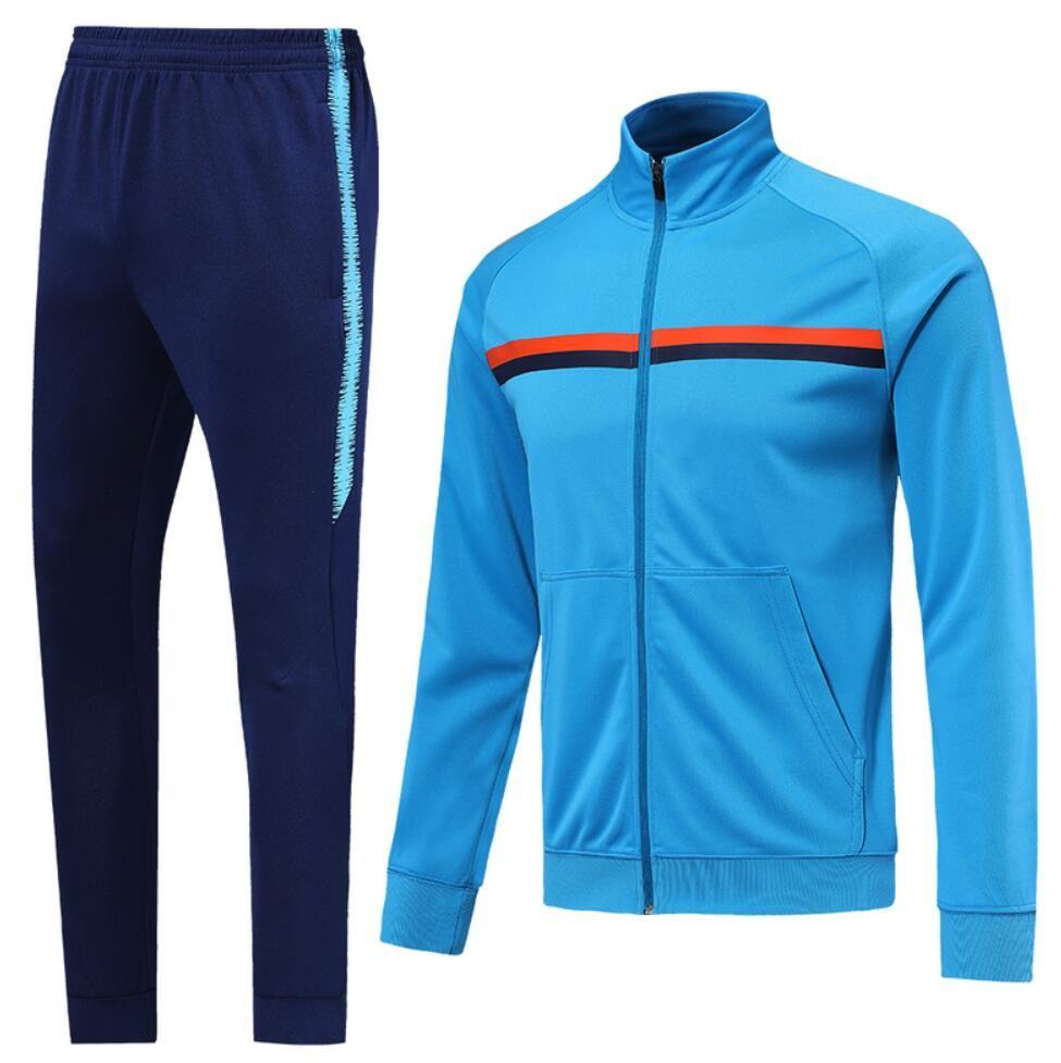 0015 Veste de style décontracté Maillot de pied Survèrent à la fermeture à glissière complète Jogging TrackSuit Kits Taille S-XL