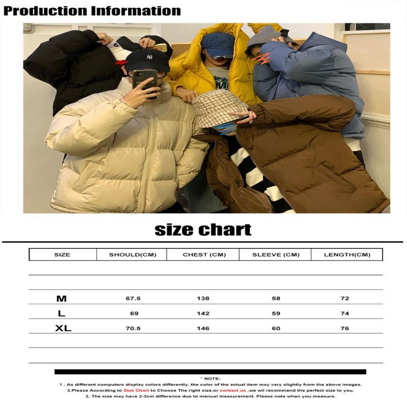 Hip Streetwear Harajuku Jackets Coat Winter Men 2021 Mens Jacket Parka Hop Korean Colorful Black Clothes Puffer Bubble Unbfq