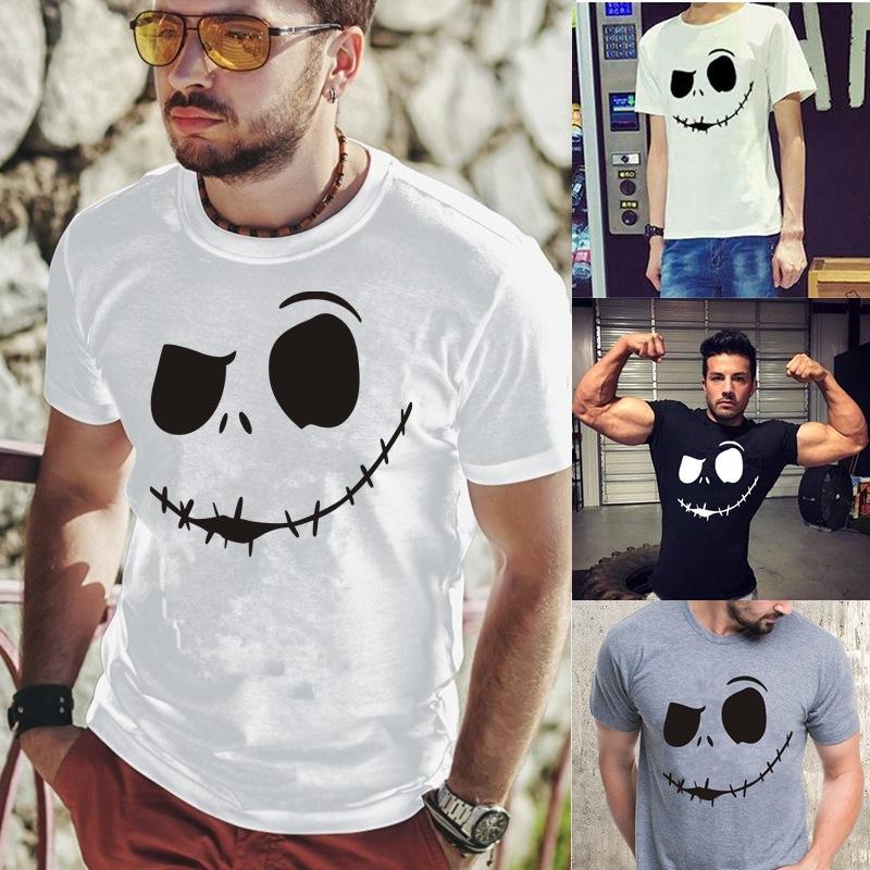 Neue Sommer Damen T-Shirt Kurzarm Lose Lose Casual Evil Smiley Gedruckt Kurzärmeliges T-Shirt