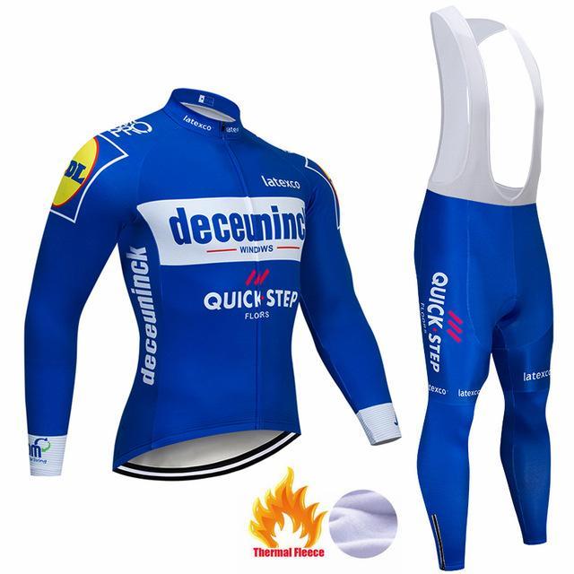2021 Pro Takım Hızlı Adım Bisiklet Jersey 9D Bib Set Belçika Bisiklet Giyim Erkek Kış Termal Polar Bisiklet Giysileri Bisiklet Giyim