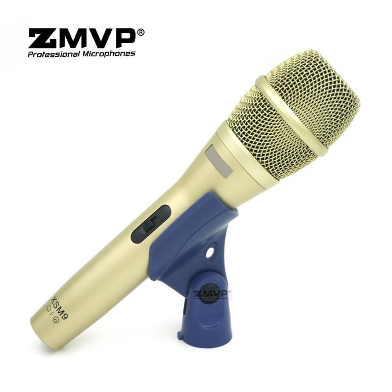 Profesyonel KSM9 Dinamik Kablolu Mikrofon KMSM9C Mic ile ON / OFF Anahtarı Performans Canlı Vokaller Karaoke Podcast Sahne Stüdyosu