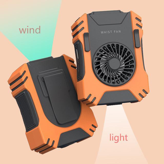 Ventilador de la cintura de la cintura del clip de refrigeración portátil Ventilador del cuello multifunción con la luz de la linterna fuerte Banco de la potencia 5000mAh CARGO DEL TELÉFONO COMPLETABLE MONEDADO MEDIOTE N20