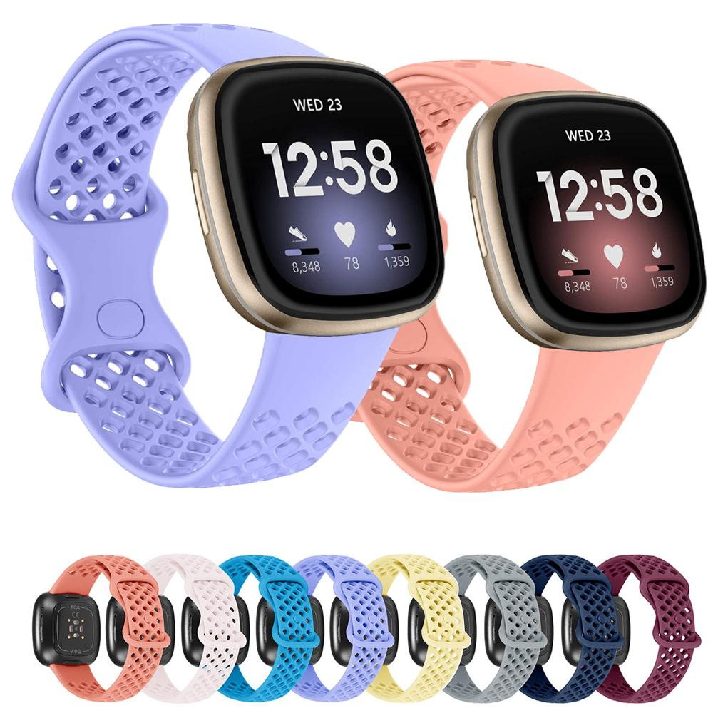 Bracelet Wrist Strap For Fitbit Versa 3 Smart Watch Band For Fitbit Sense Wristband Sport Soft Silicone Straps