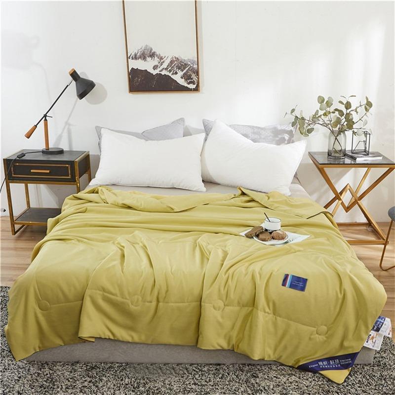 Bettdecken Sets Süßigkeiten Farbe Sommer cool gesteppt Picknick-Bettdecke Camping Atmungsaktive Abdeckung Outdoor Decken Kinder