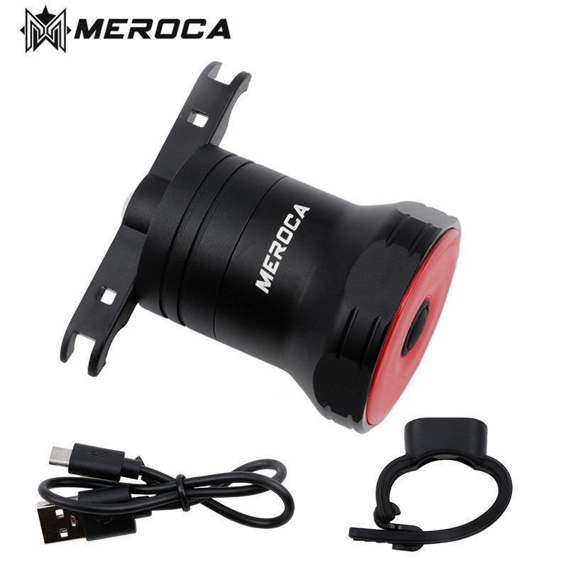 Meroca Super One Road Велосипедные задние фонари интеллектуальные датчики Тормозные огни USB MTB Bike MX2 сзади