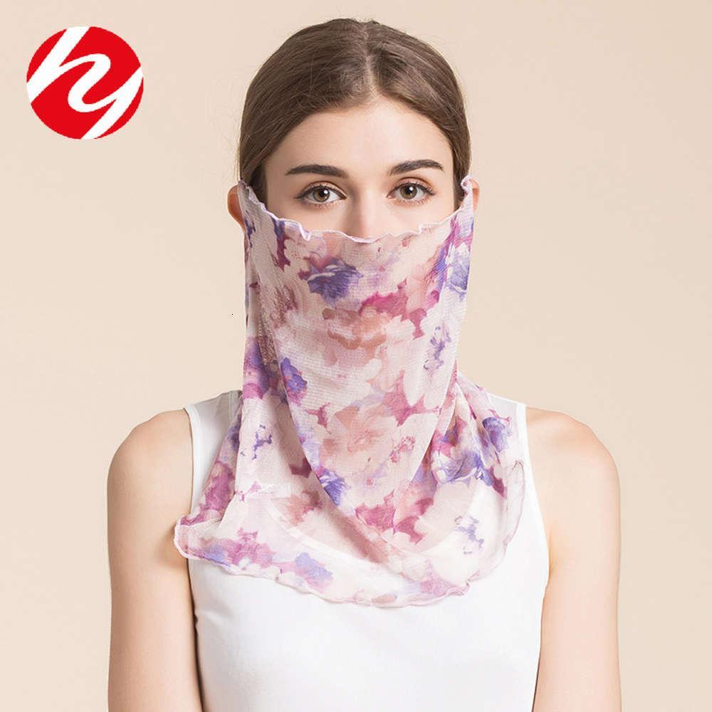Yaz ince örgü yaka kadın prezervatif dut güneş koruyucu yüz maskesi değiştirilebilir ipek eşarp boyun örtüsü