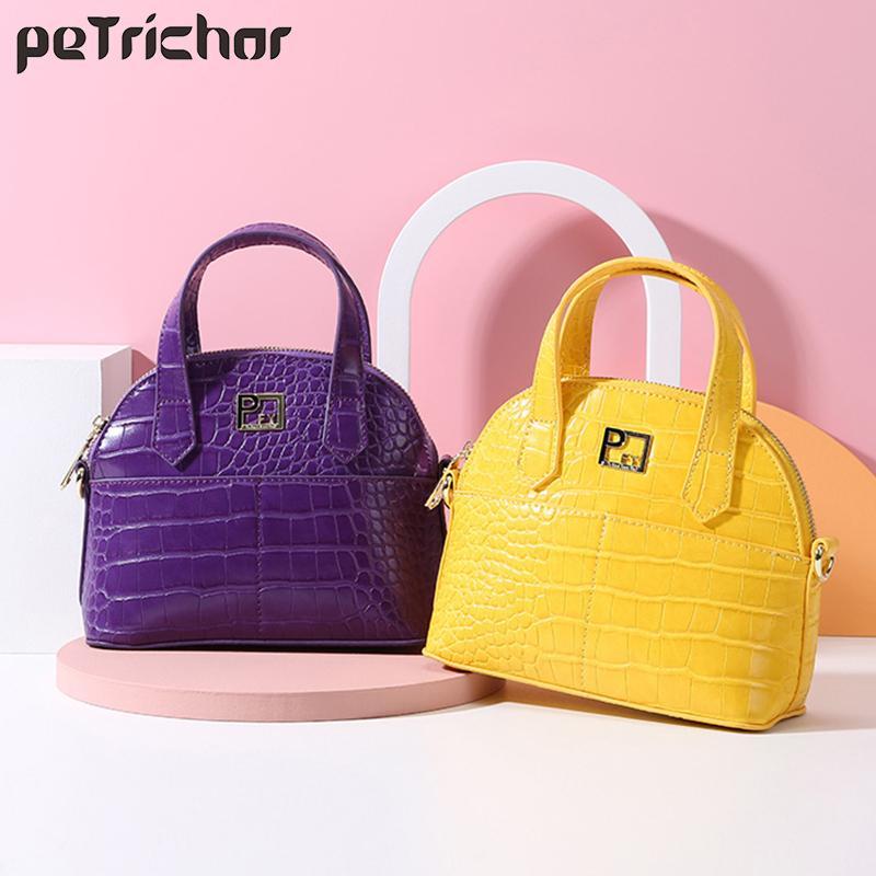 Brand Designer Shell Shoulder & Handbag For Women PU Leather Messenger Crossbody Female Bag Crocodile Pattern Ladies Tote Sac C0225