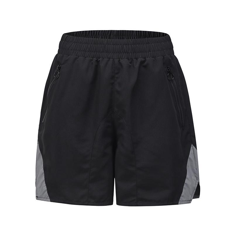 Harajuku Reflective Loose Casual Summer Shorts Mens Drawstring Oversize Pockets Overalls Hip Hop Straight Baggy Knee Length PantU4LQ