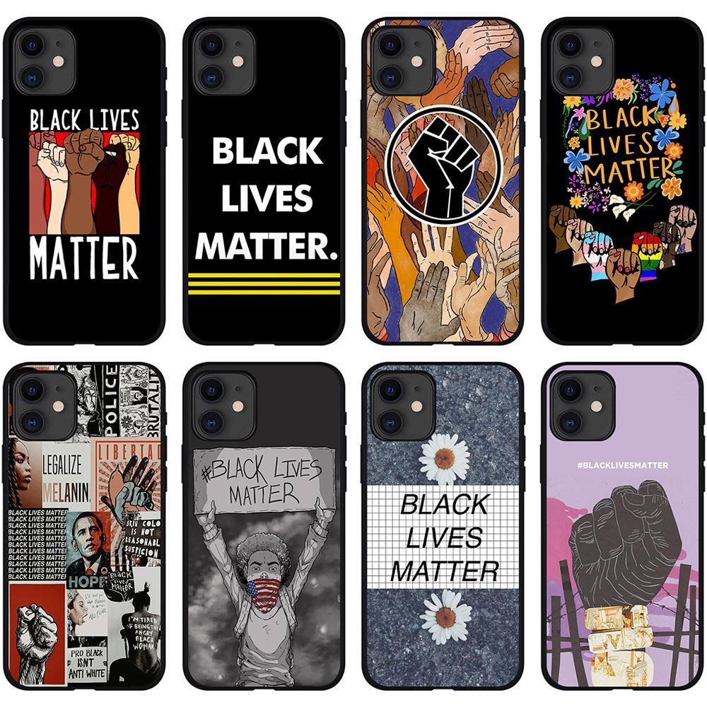 Black Lives Matter iphone Case I non riesci a respirare custodie per telefoni per iPhone13 x XR 11 12 Pro Mini Slim Back Covers