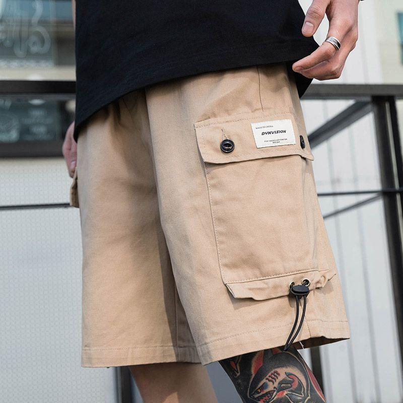 힙합화물 반바지 2021 남성 스트리트웨어 일반 반바지 Jogger Harajuku 코튼 캐주얼 반바지 여름 트랙 짧은 스웨트 팬츠 포켓