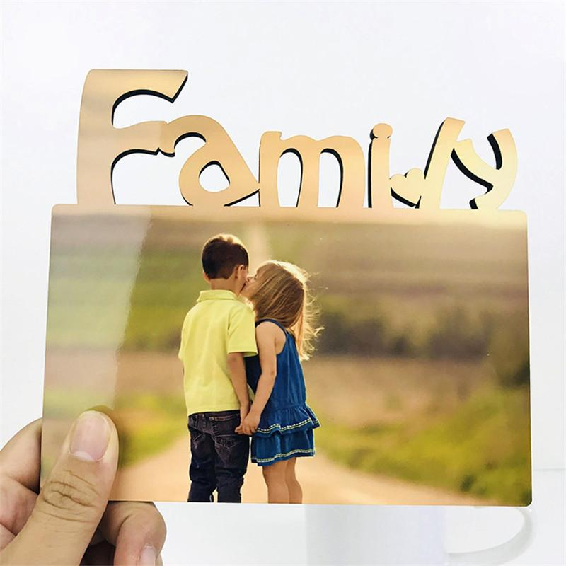 DIY Photo Frame Sublimation Blank Board Heat Transfer MDF Wooden Photos Frames to Record Family Affection Holiday Gift