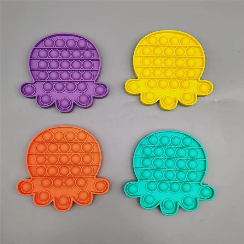 푸시 팝 팝 버블 감각 FIDGET 장난감 미국 자폐증 특별 욕구 스트레스 릴리버 아이들을위한 감각 장난감 150pcs