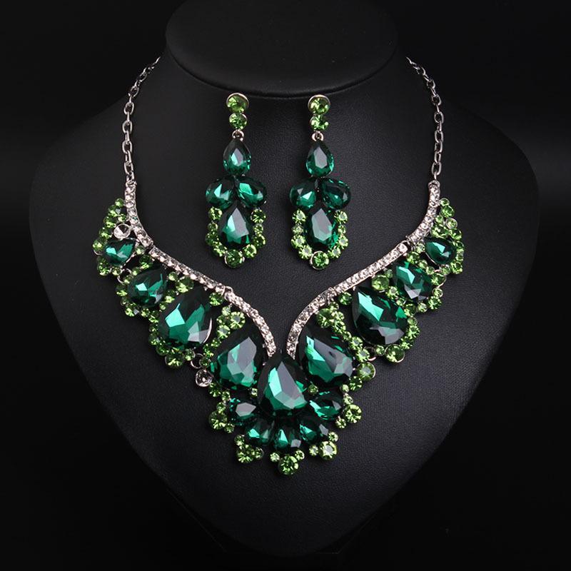 Chegada nova Colorido / Verde Strass Boyers Colares Moda Trend Cristais Colares Fine Jewelry Acessórios para mulheres