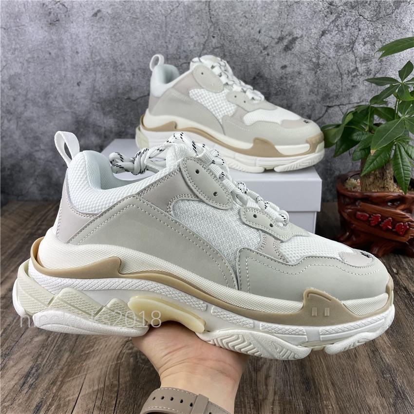 Paris 17FW Triple-S Boş Zaman Ayakkabıları Baba Ayakkabı Üçlü S Chaussures Sneakers Erkekler Kadınlar Için Vintage Platformu Eğitmenler Old Büyükbaba Trainer Açık
