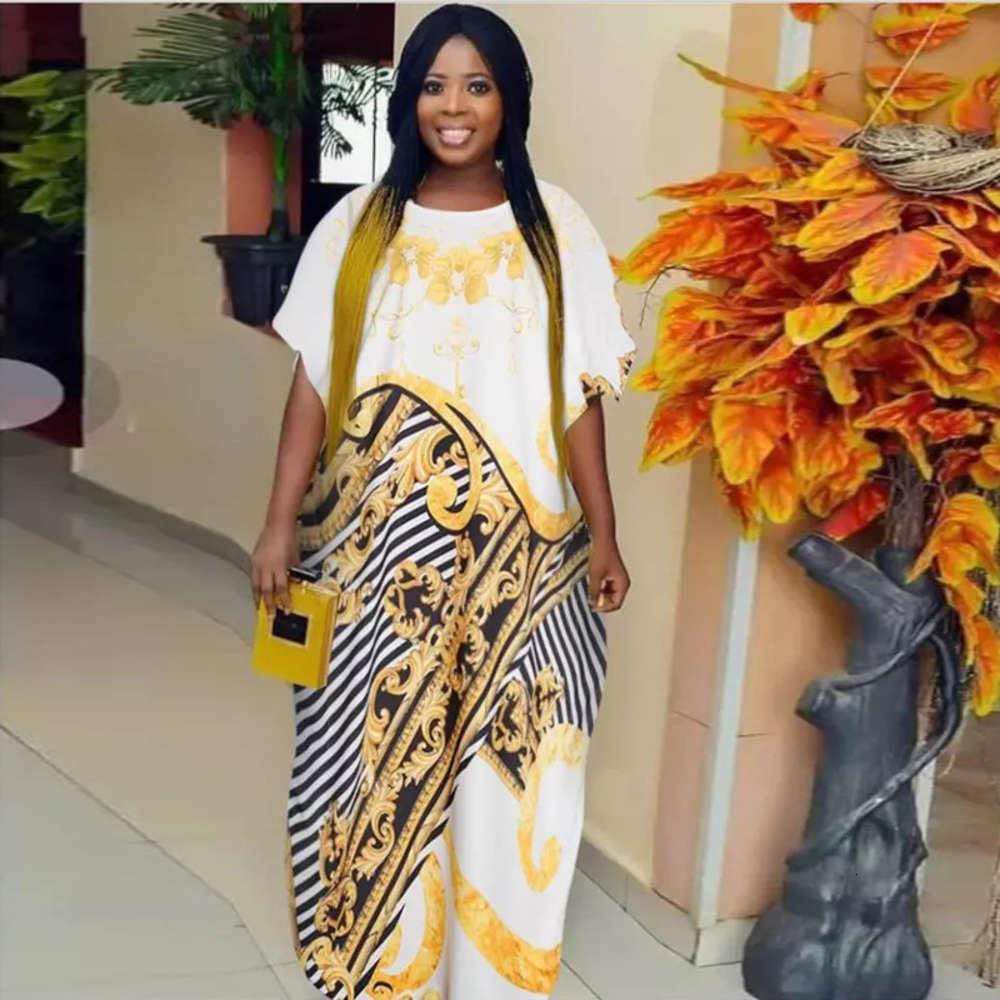 DROITE NEUF NOUVELLE DESIGN Grande robe mère imprimée musulmane