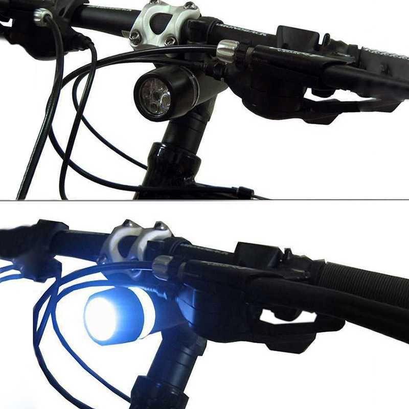 Bisiklet Işıkları Su Geçirmez 500LM 5 LED MTB Bisiklet Far Bisiklet Işık Aksesuarları Luces Bicicleta Far