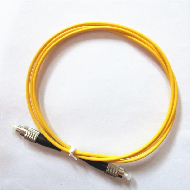 Câble de correctif à fibre optique de qualité de qualité d'usine Vente d'usine 1M FC / UPC à FC / UPC Simplex OS1 Mode Single PVC (OFNR) 3.0mm