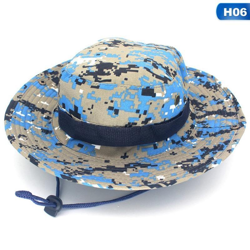 Cubo sombrero gorra pesca caza safari verano hombres sol sombrero pescador sombrero hombres y mujeres gorras al aire libre gorda de paja
