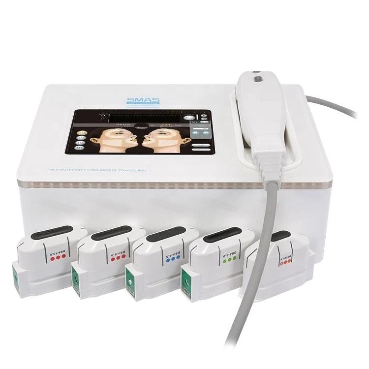 SMAS Ultrassom Hifu Máquina Hifu Alta Intensidade Focado Rejuvenescimento Gordura Reduza 5 Head Catridge Salon Use