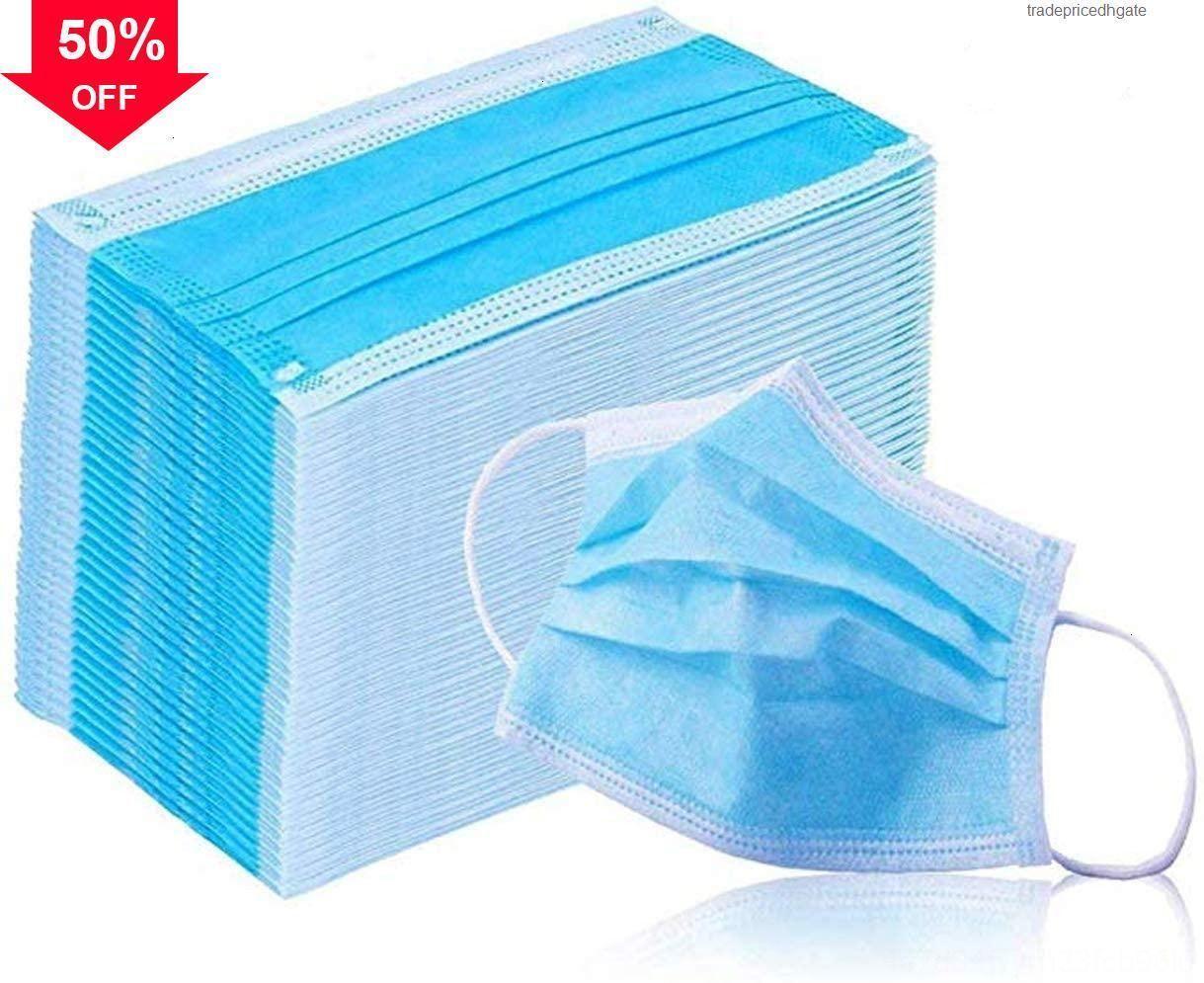 Синие слои PXB52 нетканые с гайми 3 эластичные растоп. Высококачественные приливы рот для блокировки лица одноразовые шеи маска пыли