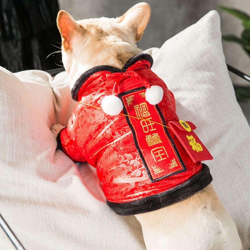Luta Tang Teddy Fashion Pequeno Cachorro Cat Gato Outono e Inverno Pelúcia Ano Novo Ano Novo