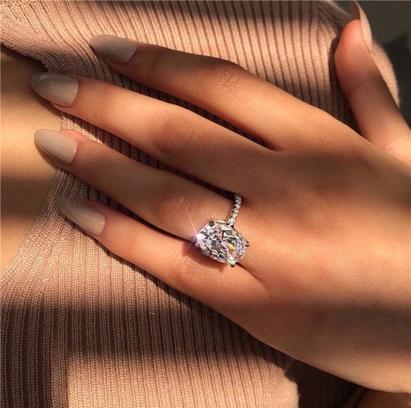 Высокое качество Sanjie желаю нового европейского и американского большого овального белого золота Zircon кольцо для орнамента кольцо