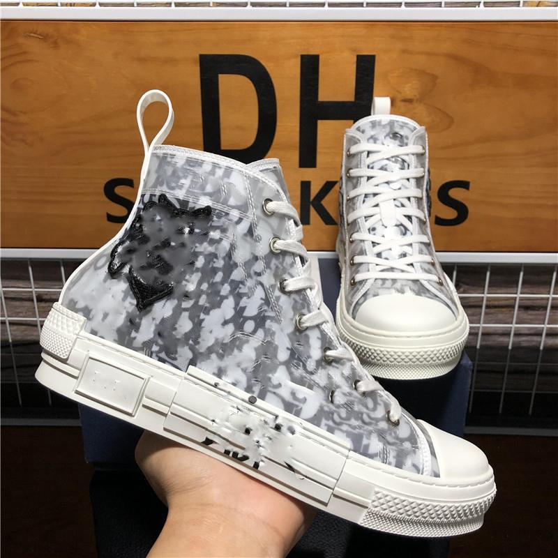 En Kaliteli Luxurys Tasarımcılar Ayakkabı B23 Eğik Teknoloji Tuval Eğitmenler Sneakers Erkekler Kadınlar Moda Çiftleri Açık Platformu Rahat Ayakkabılar