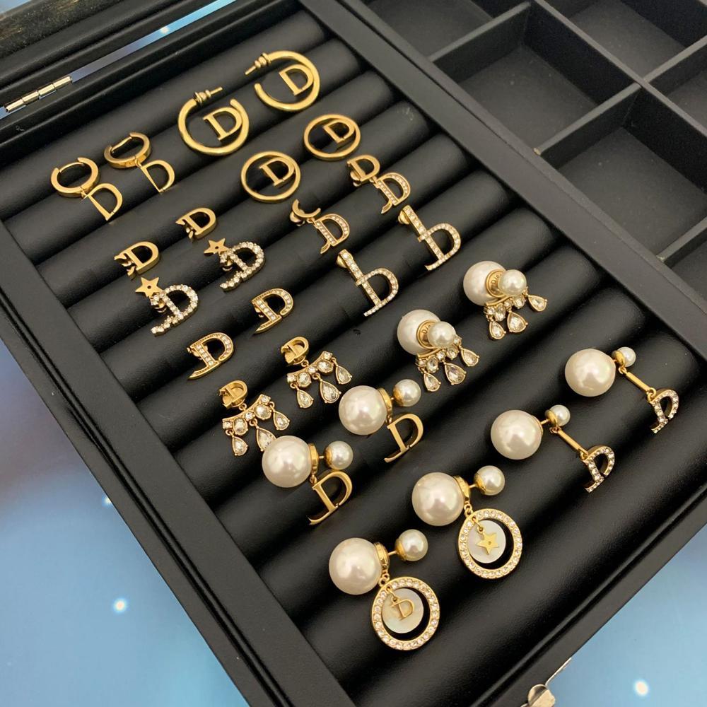 Lettre de boucles d'oreilles de charme de mode pour femme Party Mariage Amoureux cadeau Bijoux Engagement