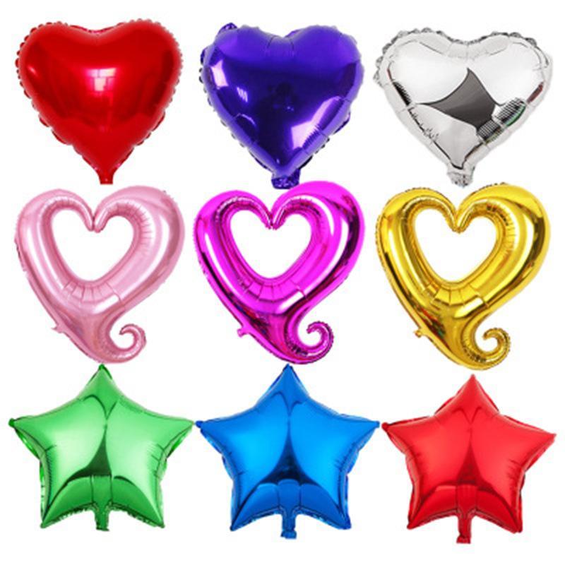 18inch 중공 심장 모양 호일 풍선 웨딩 장식 헬륨 풍선 발렌타인 데이 골드 하트 파티 용품 풍선