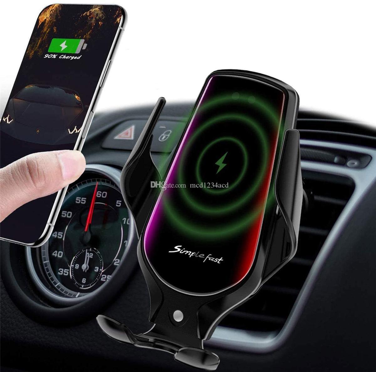 R3 Беспроводное зарядное устройство Smart Sensor Qi автомобиль телефона держатель для телефона для iPhone X XS XR 11 12 Pro Max Samsung Xiaomi зарядки