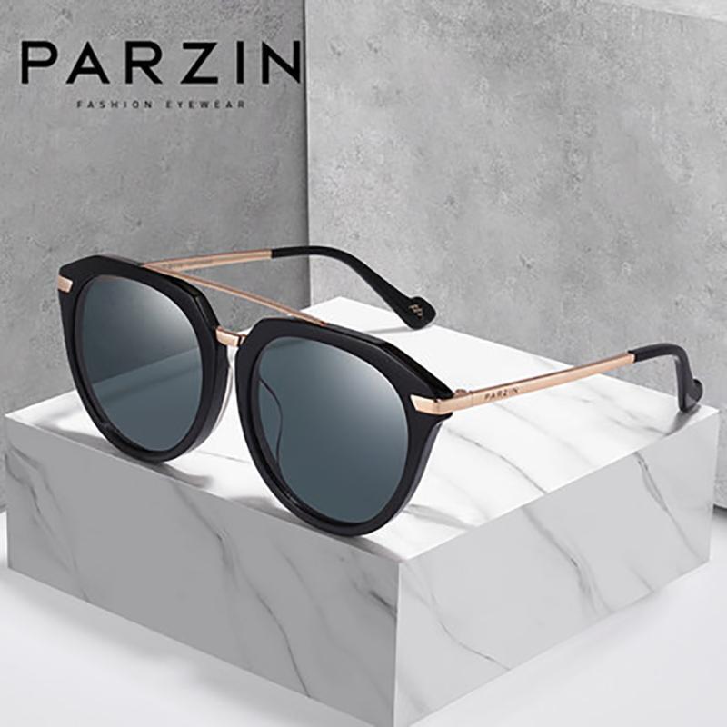 Parzin para mulheres lentes de nylon moda verão óculos de sol de qualidade de qualidade polarizada lente anti-uv óculos de sol mulheres acessórios novos