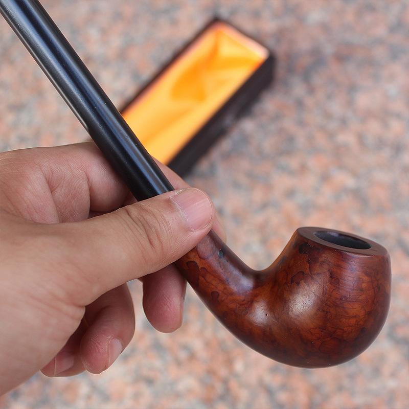 Tubo de fumar de la barra larga Tubo de cigarrillo de madera Filtro creativo Tubo de tabaco para el regalo 727 K2
