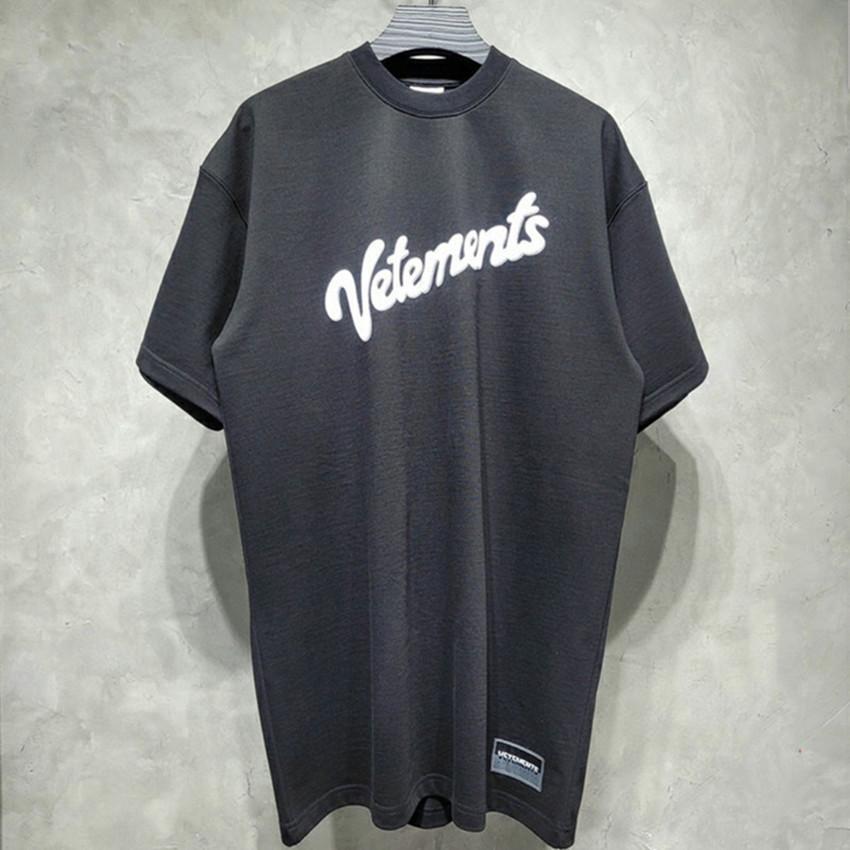 2021 Yeni Vetmenu Boy Tişört Kadın Erkek Kaşık Gömlek Print VTM Vetements Chil Arkasında Sıkılmış
