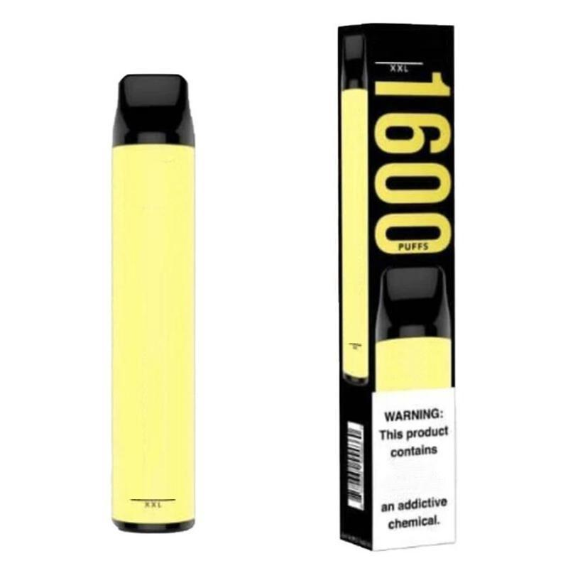 Tek Kullanımlık Tedarik Vape Kalem 6.5ml 1600 Puffs 1000 mAh Pil Puf Bar XXL VS Puf Plus Xtra Puffbars
