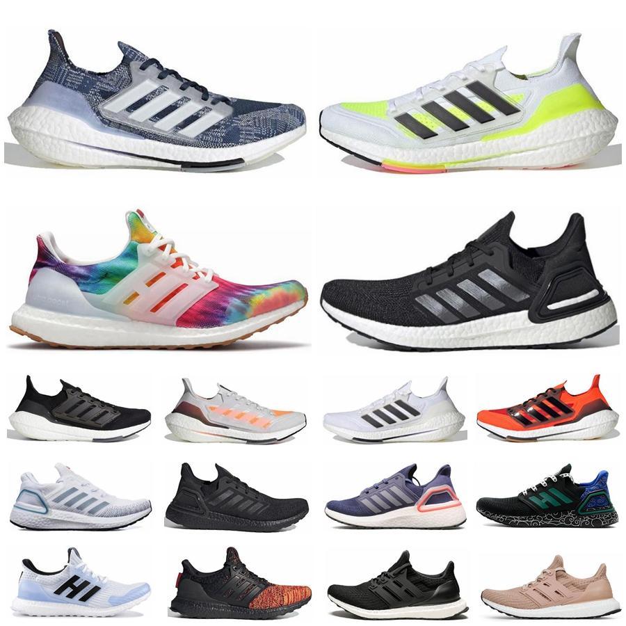 2021 UltraBoost 21 homens Mulheres Correndo Sapatos Ultra Boost 20 UB 4.0 Triplo Preto Solar Amarelo Dourado Vermelho Branco Walker Branco Criado Esportes Ao Ar Livre Sapatilhas