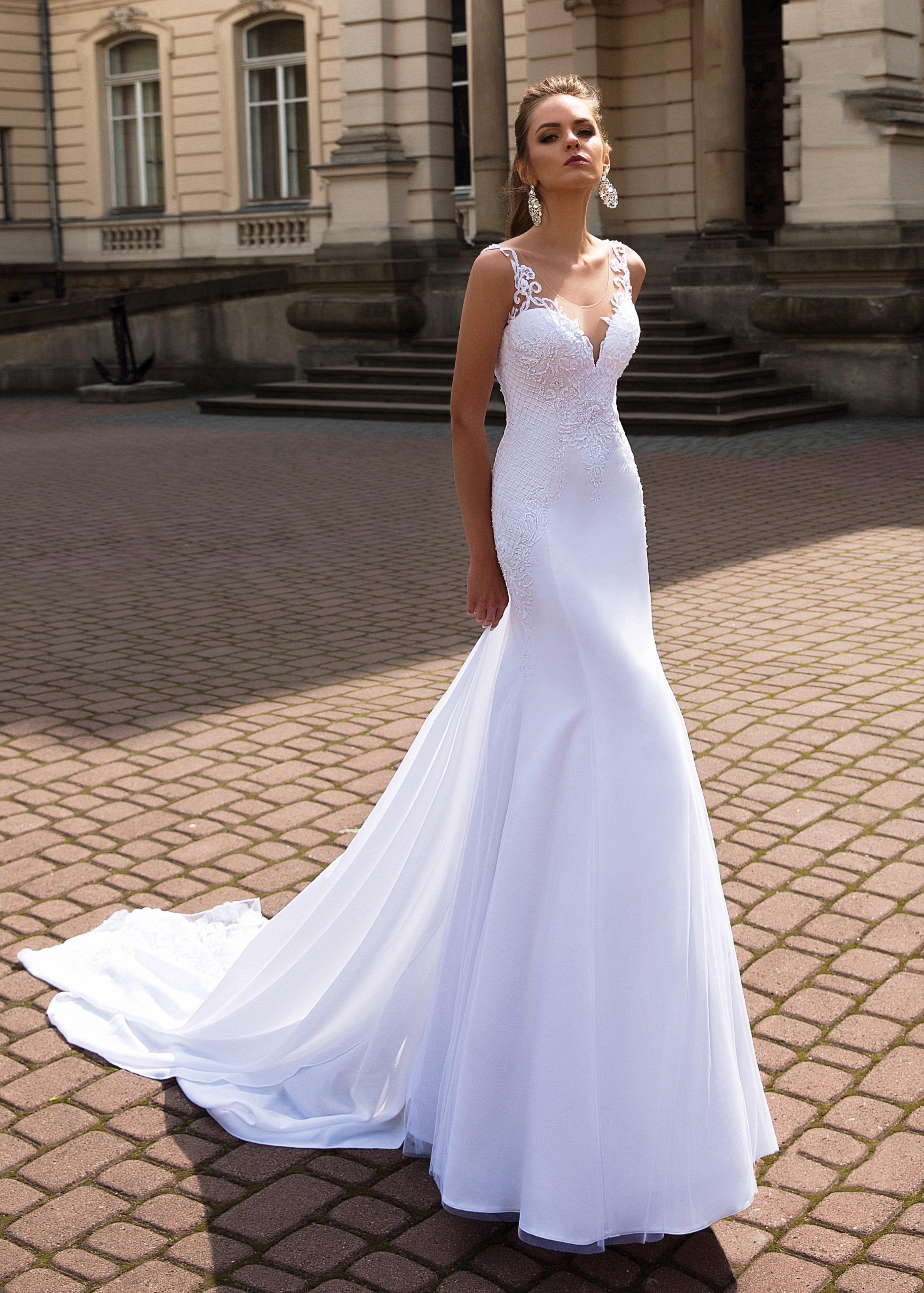 Zarif Mermaid Gelinlik Kadınlar Için 2021 Robe De Mariée Seksi Backless Dantel Gelinlikler Custom Made V Boyun Gelin Elbiseler
