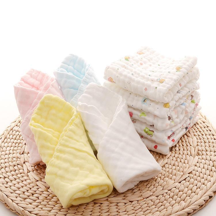 Gedruckt 6-Schicht-Kinders Speichel Waschhaze Kleine quadratische Gesichtshandtuch Reine Baumwolle Baby Produkte
