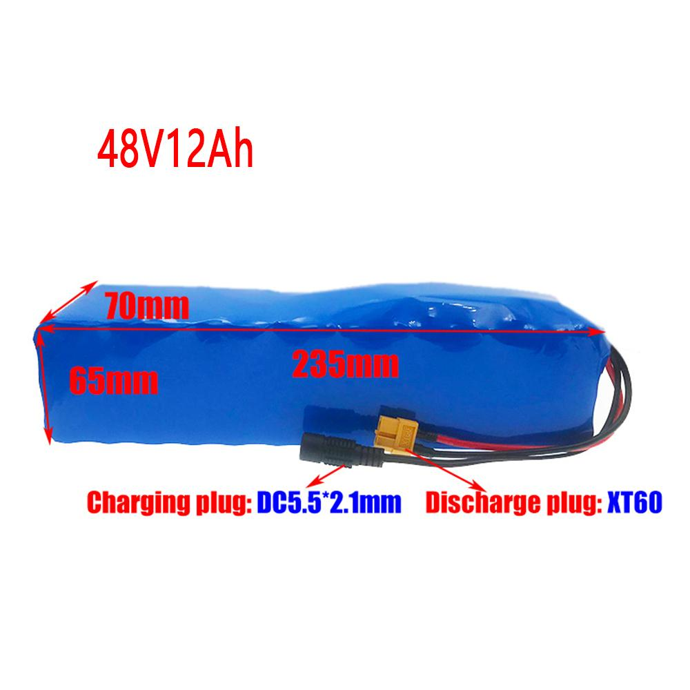 Vakaumus 48V 12ah Lithium Battery Pack 18650 For 500W 450W 350w 250W 54.6V Ebike Electric Bicycle Scooter With 2A Charger