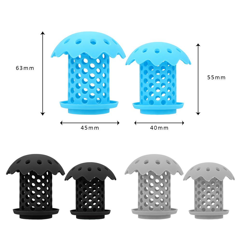 2Pcs Drain Strainer Silica Gel Bathtub Household Cleaning Tools Sink Drainer Hair Catcher Protector Snare Prevents Hairs from Clogging bathroom accessories