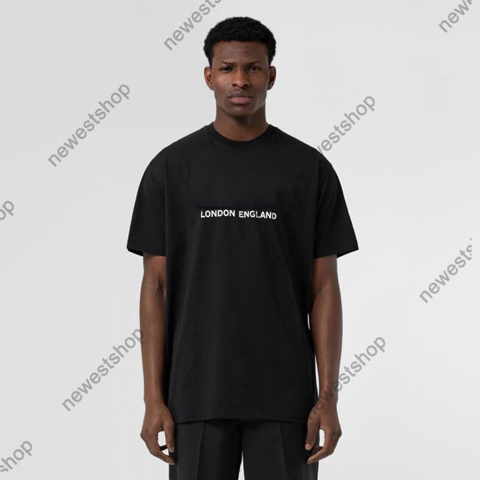 Summer Mens Designer Lujo Tshirts Tshirts Mujeres Londres Inglaterra Classic Letra Carta T T Shirts Casual Algodón Tshirt Tee Tops