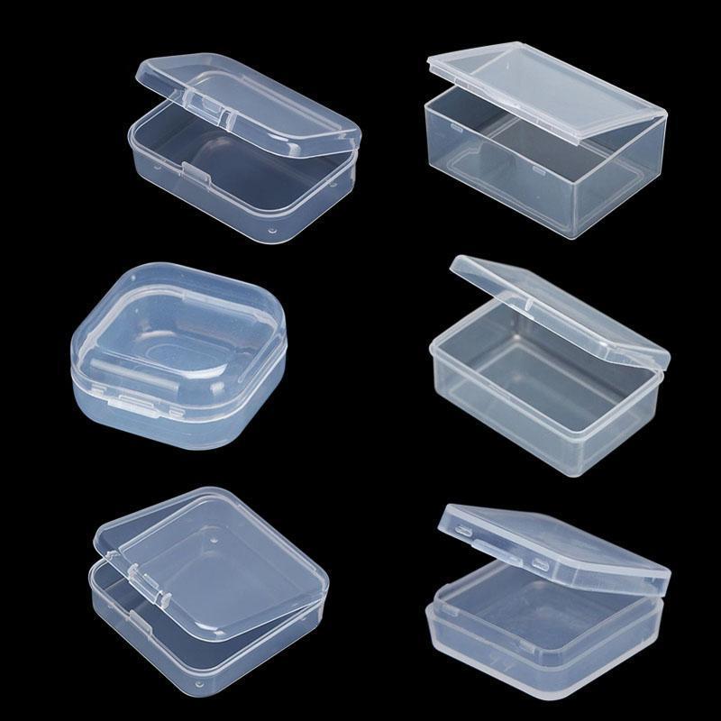 Presente Envoltório 24 Tamanhos Limpar pequenos Caixa de Plástico Pequena Sundries Ferramentas de Algodão Armazenamento de Jóias de Armazenamento de Jóias Capa de Parafuso de Exibição Contêiner