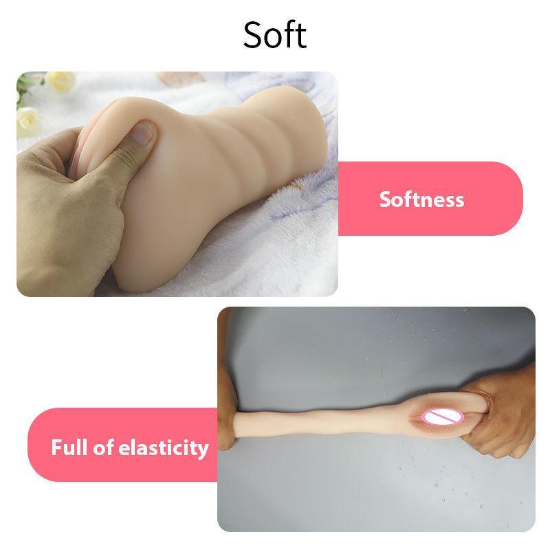 Nuevo masturbador masculino Herramientas de coño real Masturbate Productos para adultos Pocket Cup Vagina de goma Juguetes sexuales para hombres