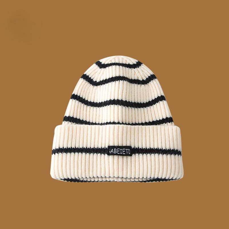 Шапочки мода корейский стиль вязаные шляпы для женщин мужчины теплые сгущает плюс бархатный хип-хоп бежевый хаки осень зима